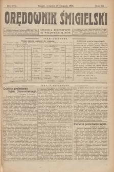 Orędownik Śmigielski : dziennik bezpartyjny dla wszystkich stanów. R.32, nr 274 (30 listopada 1922)