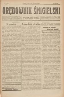 Orędownik Śmigielski : dziennik bezpartyjny dla wszystkich stanów. R.32, nr 276 (2 grudnia 1922)