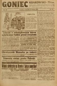 Goniec Krakowski. 1920, nr84