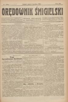Orędownik Śmigielski : dziennik bezpartyjny dla wszystkich stanów. R.32, nr 281 (8 grudnia 1922)