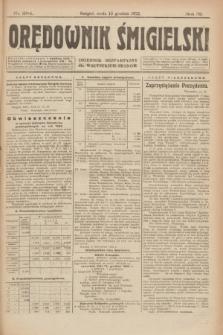 Orędownik Śmigielski : dziennik bezpartyjny dla wszystkich stanów. R.32, nr 284 (13 grudnia 1922)
