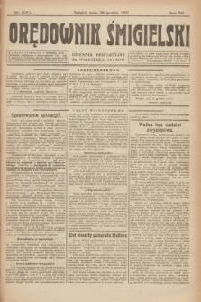 Orędownik Śmigielski : dziennik bezpartyjny dla wszystkich stanów. R.32, nr 290 (20 grudnia 1922)
