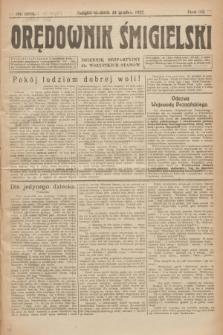 Orędownik Śmigielski : dziennik bezpartyjny dla wszystkich stanów. R.32, nr 294 (24 grudnia 1922)