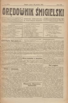 Orędownik Śmigielski : dziennik bezpartyjny dla wszystkich stanów. R.32, nr 296 (29 grudnia 1922)