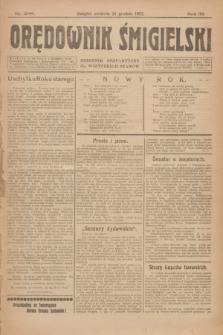 Orędownik Śmigielski : dziennik bezpartyjny dla wszystkich stanów. R.32, nr 298 (31 grudnia 1922)