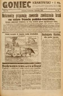 Goniec Krakowski. 1920, nr91