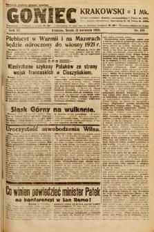 Goniec Krakowski. 1920, nr109