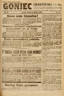 Goniec Krakowski. 1920, nr111
