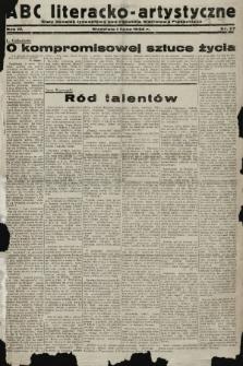 ABC Literacko-Artystyczne : stały dodatek tygodniowy. 1934, nr27 |PDF|