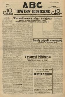 ABC : nowiny codzienne. 1935, nr [65] [ocenzurowany] |PDF|
