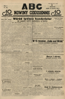 ABC : nowiny codzienne. 1935, nr233 |PDF|