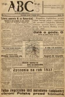 ABC : nowiny codzienne. 1937, nr1 |PDF|