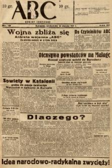 ABC : nowiny codzienne. 1937, nr19 |PDF|
