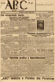 ABC : nowiny codzienne. 1937, nr41 [ocenzurowany]  PDF 