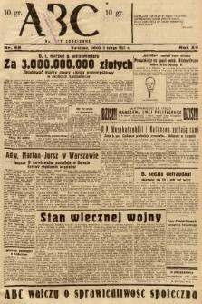 ABC : nowiny codzienne. 1937, nr42 |PDF|