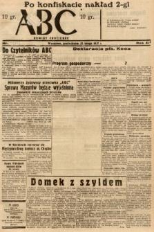 ABC : nowiny codzienne. 1937, nr63 [ocenzurowany] |PDF|