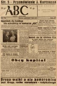 ABC : nowiny codzienne. 1937, nr70 |PDF|