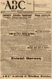 ABC : nowiny codzienne. 1937, nr74 |PDF|