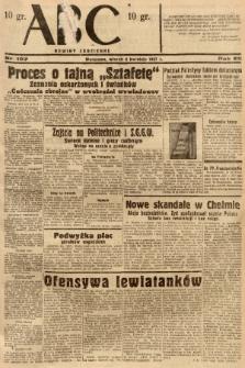 ABC : nowiny codzienne. 1937, nr107 [ocenzurowany] |PDF|