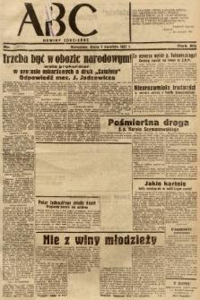 ABC : nowiny codzienne. 1937, nr109 [ocenzurowany] |PDF|