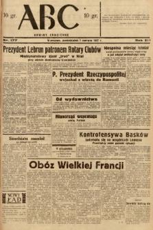 ABC : nowiny codzienne. 1937, nr177 [ocenzurowany] |PDF|