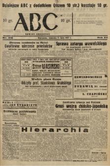 ABC : nowiny codzienne. 1937, nr216 [ocenzurowany] |PDF|