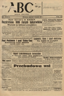 ABC : nowiny codzienne. 1937, nr243 A |PDF|