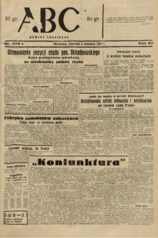 ABC : nowiny codzienne. 1937, nr279 A  PDF 