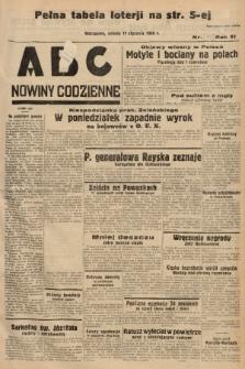 ABC : nowiny codzienne. 1936, nr11 [ocenzurowany] |PDF|