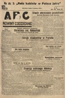 ABC : nowiny codzienne. 1936, nr18 |PDF|