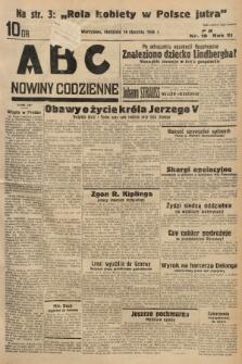 ABC : nowiny codzienne. 1936, nr19 |PDF|