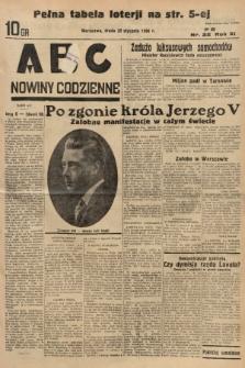 ABC : nowiny codzienne. 1936, nr22 |PDF|
