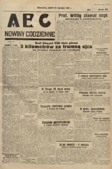 ABC : nowiny codzienne. 1936, nr25 [ocenzurowany] |PDF|