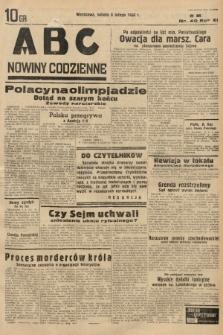 ABC : nowiny codzienne. 1936, nr40 |PDF|
