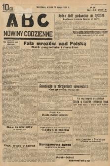 ABC : nowiny codzienne. 1936, nr43 |PDF|