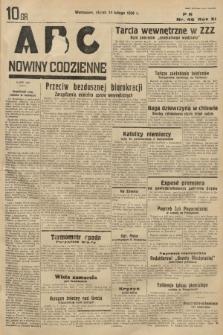 ABC : nowiny codzienne. 1936, nr46 |PDF|