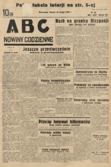 ABC : nowiny codzienne. 1936, nr57 |PDF|