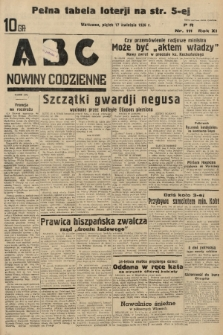 ABC : nowiny codzienne. 1936, nr111 |PDF|