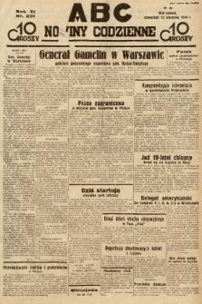 ABC : nowiny codzienne. 1936, nr231 |PDF|
