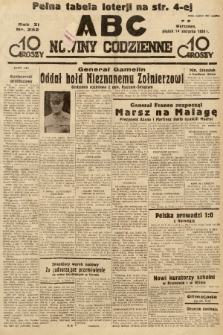 ABC : nowiny codzienne. 1936, nr232 |PDF|