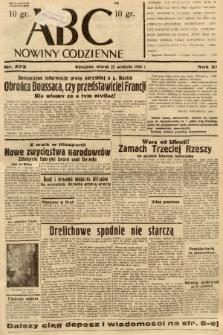 ABC : nowiny codzienne. 1936, nr272 |PDF|