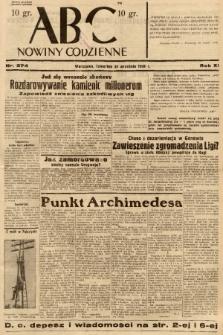 ABC : nowiny codzienne. 1936, nr274 |PDF|