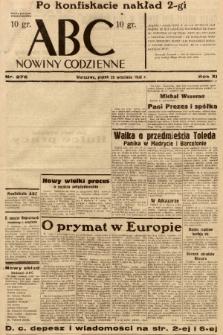 ABC : nowiny codzienne. 1936, nr276 [ocenzurowany] |PDF|