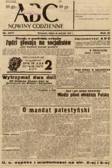 ABC : nowiny codzienne. 1936, nr277 |PDF|