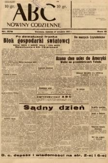 ABC : nowiny codzienne. 1936, nr278 |PDF|