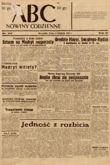 ABC : nowiny codzienne. 1936, nr317  PDF 