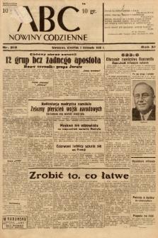 ABC : nowiny codzienne. 1936, nr318 |PDF|