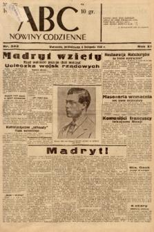ABC : nowiny codzienne. 1936, nr322  PDF 