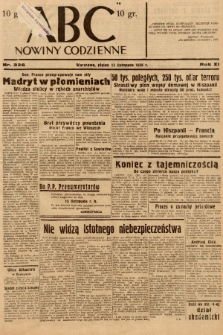 ABC : nowiny codzienne. 1936, nr326  PDF 