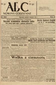 ABC : nowiny codzienne. 1936, nr334 |PDF|
